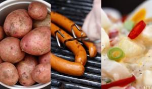 pølser og potetsalat