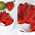 Jordbær- og limesorbet