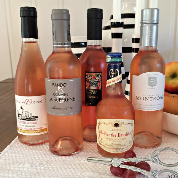 bilde av 5 halvflasker rosévin til vintest