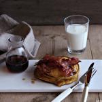Gresskarpannekaker med søte baconstriper
