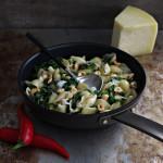 Pasta med grønnkål og parmesan