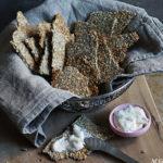 Superenkle knekkebrød med chiafrø