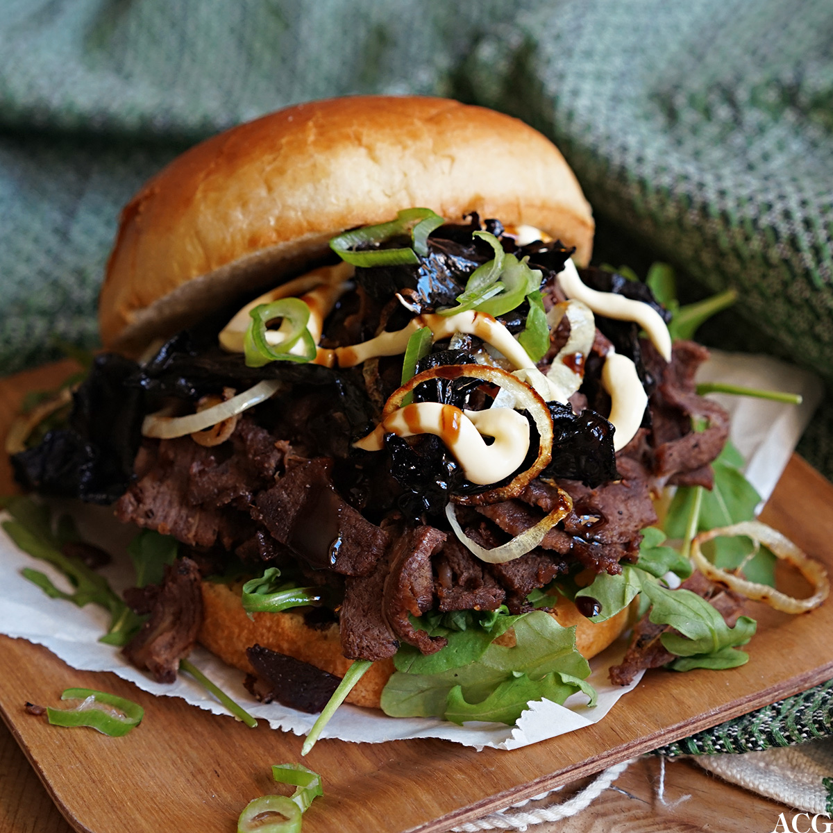 Reinskavburger med japanske smaker