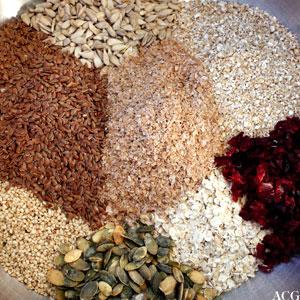 ingredienser til hjemmelaget knekkebrød