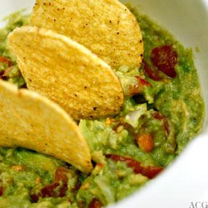 guacamole og maischips