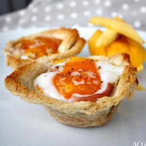 bilde av 2 stk eggmuffins med mangostaver