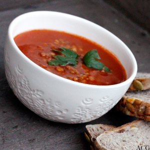tomatbasert linsesuppe
