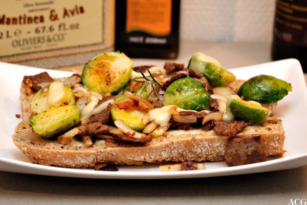 sandwich med reinsdyrskav og rosenkål
