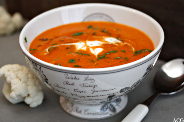 orange blomkålsuppe