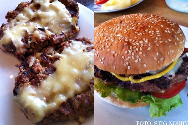 Stigs cheeseburger / osteburger
