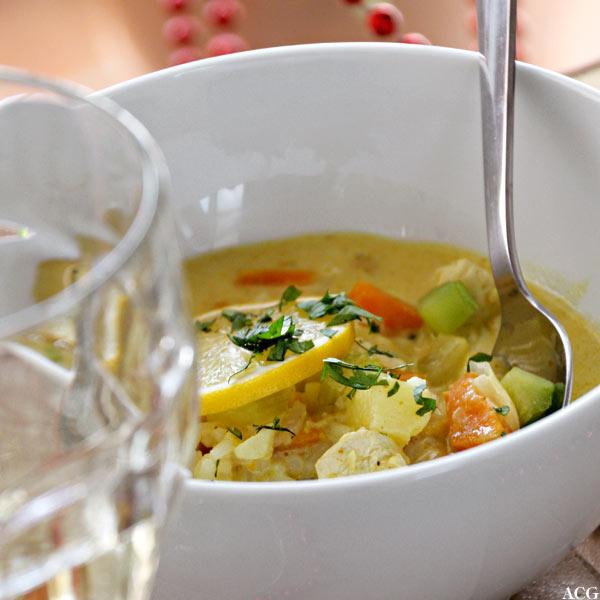 Vin til mulligatawny suppe