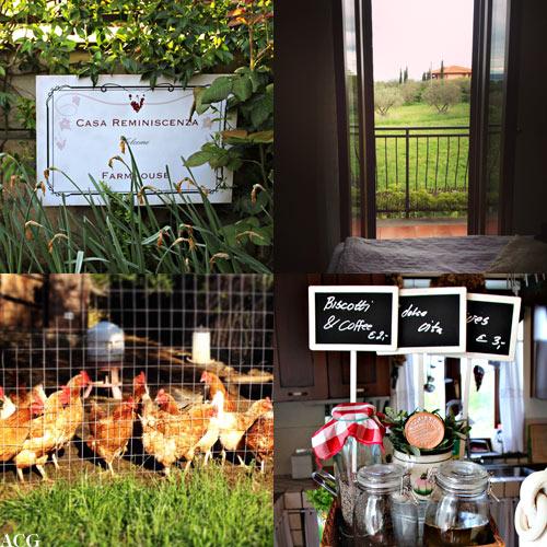 fire bilder fra Casa Reminiscenza i Bolsena