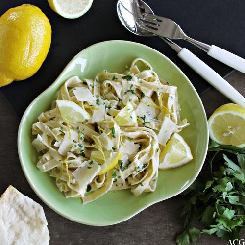 tallerken med pasta al limone