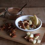 Cottage cheese, eple og karamellnøtter