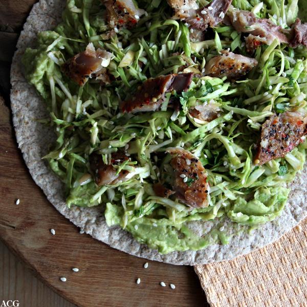 wrap med makrellsalat