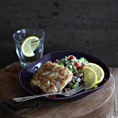 smørstekt torsk med salat
