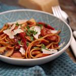 One pot pasta med kjøttpølse