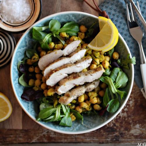 kikertsalat med kylling