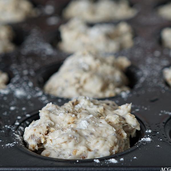 deig til rundstykker i muffinsform