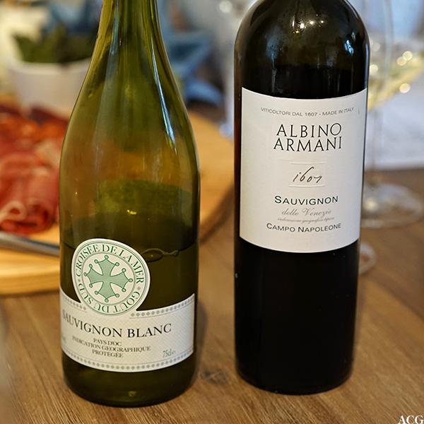 Vin til asparges: Croisée de la mer og Albino Armani