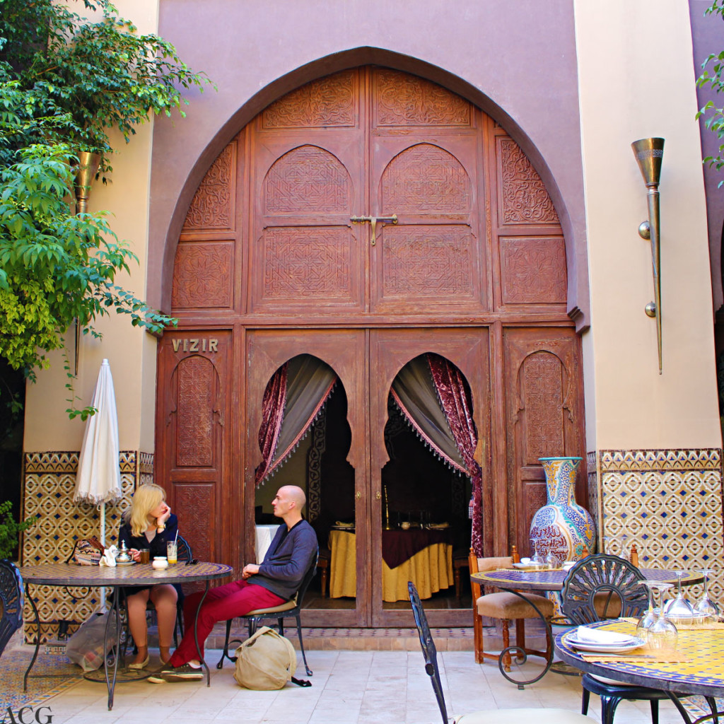 restaurant i Marrakech