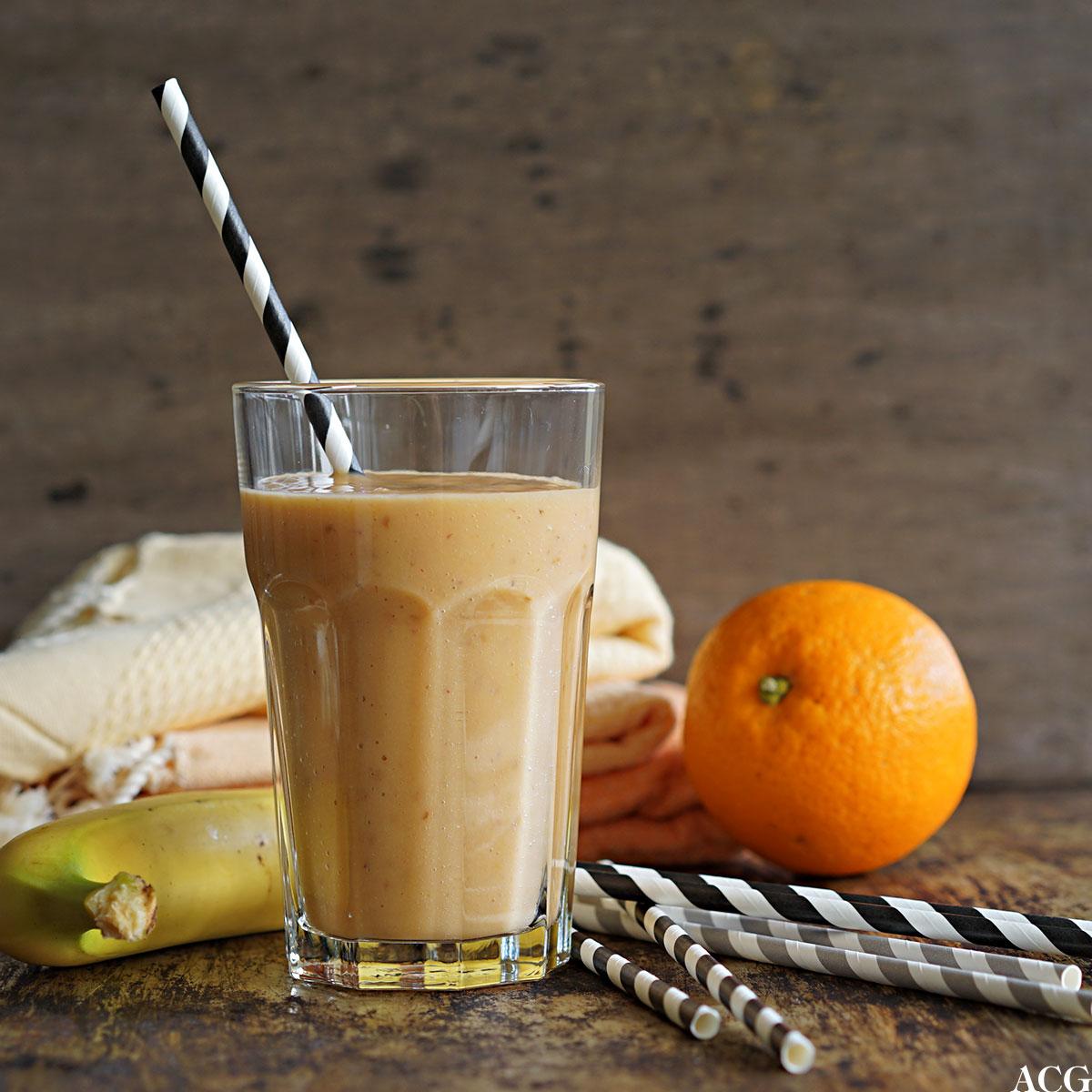 smoothie med banan og appelsin