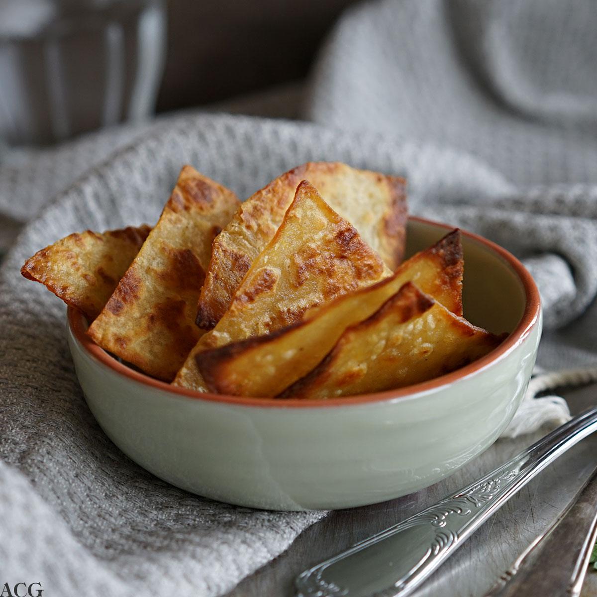 chips laget av potetlompe