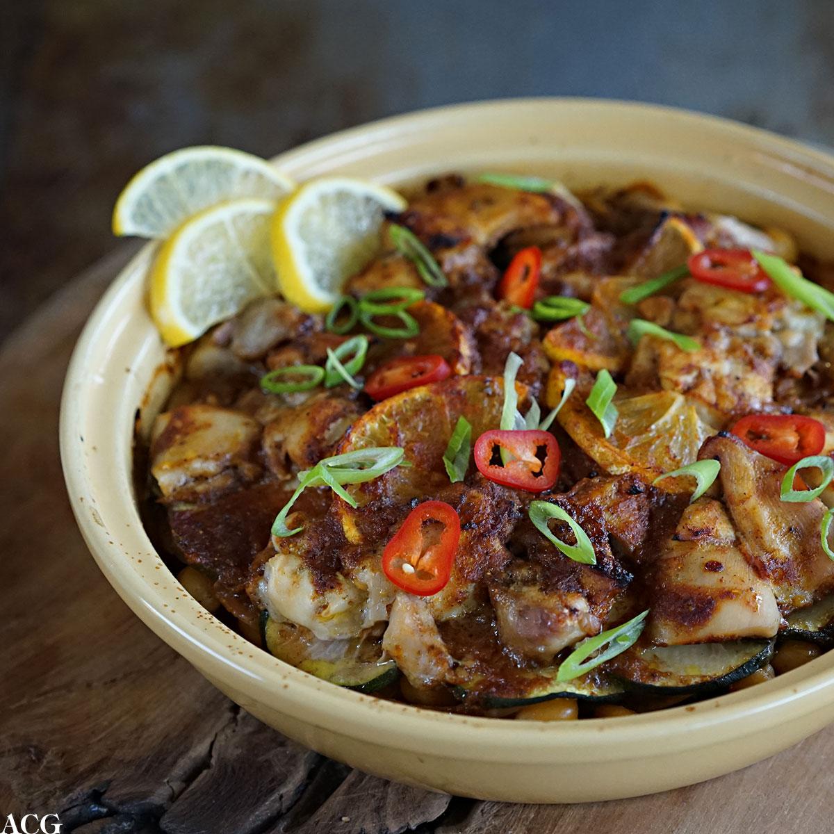 kylling- og potetform med ras el hanout