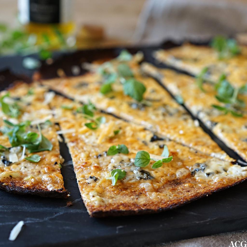 pizzabunn med blomkål som hovedingrediens