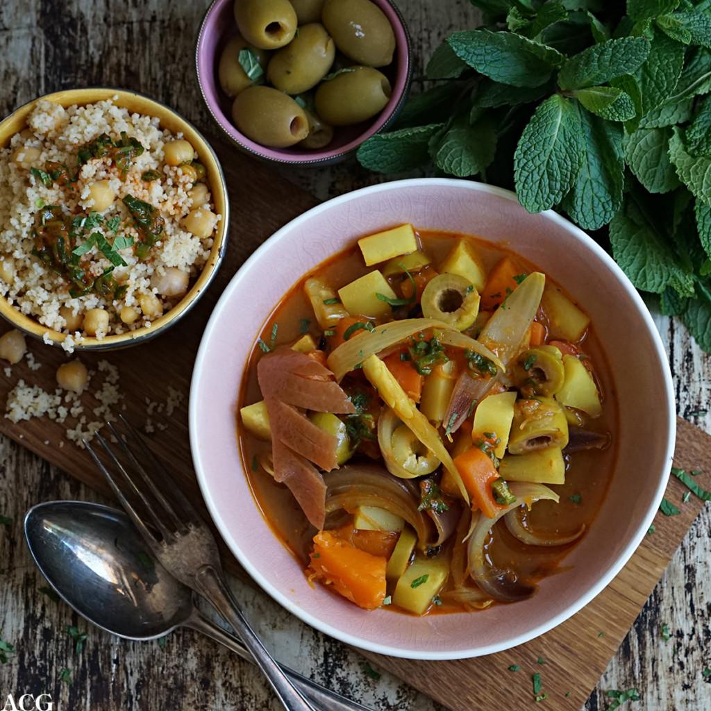 vegetargryte med marokkanske smaker