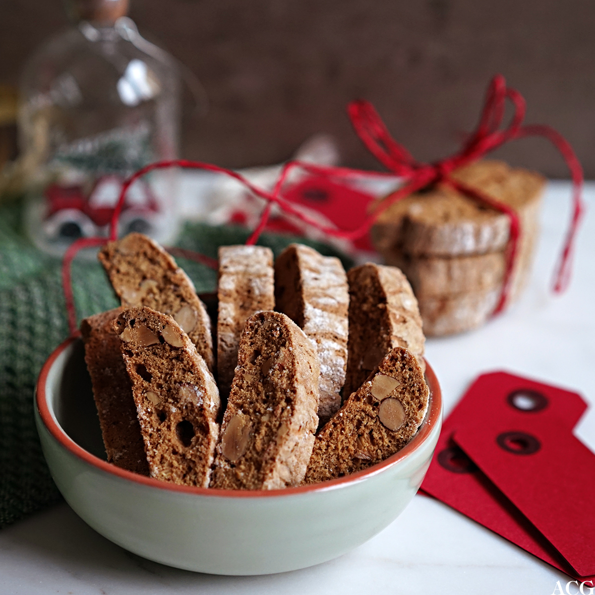 pepperkakebiscotti